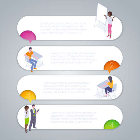 Step by step infographics template