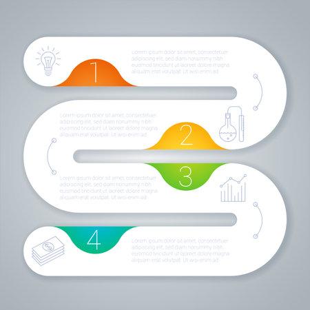 Step by step infographics template Zdjęcie Seryjne - 162208792