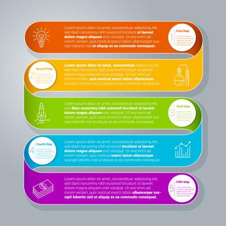 Step by step infographics template Zdjęcie Seryjne - 162208846