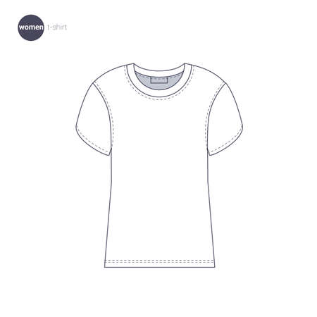 Women t-shirt. Clothes icons.
