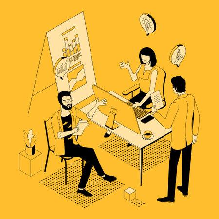 teamwork effective cooperation Ilustracja