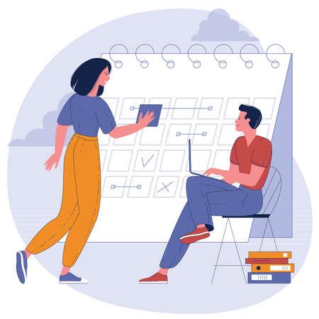 Planning schedule and calendar timeline