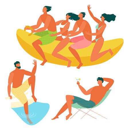 Beach people relaxing.