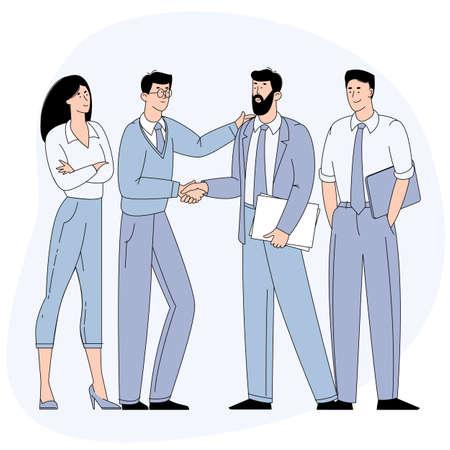 Businessmen shaking hands. Vecteurs