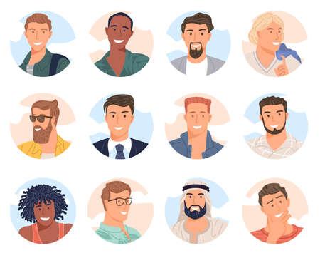 diverse men avatar Illustration