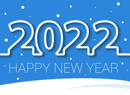 2022 New Year banner. Illustration
