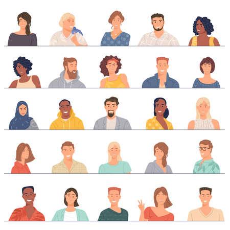 avatar of diverse business team Illustration