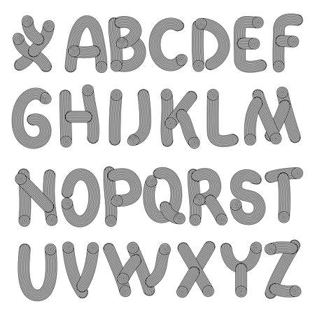 hand drawn letters. Illustration