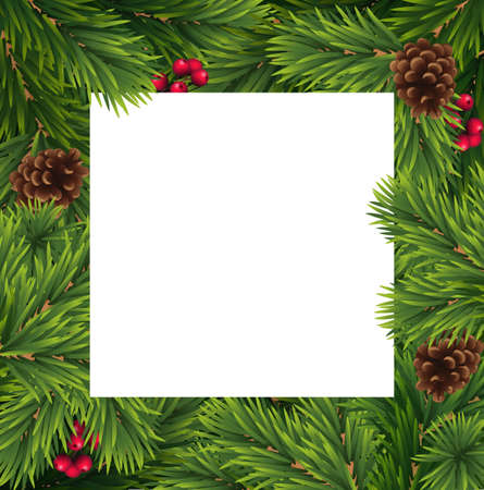 Christmas and New year vector template
