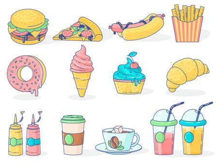 Fast food menu icons