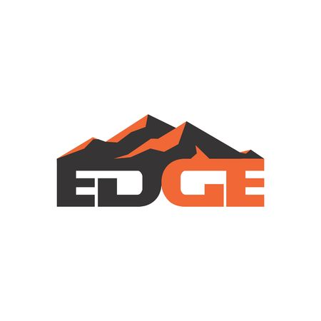 edge: edge mountain natural icon vector