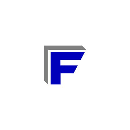 initial: F letter alphabet initial letter icon vector