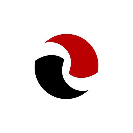 blade: blade circle r letter icon logo vector