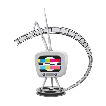Vector illustration of the television.