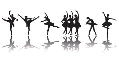 ballet dancing: Ballerinas Illustration