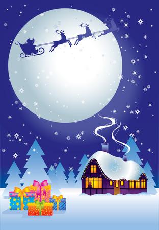 ?    ?     ?    ? �sledge: Noche de Navidad  Vectores
