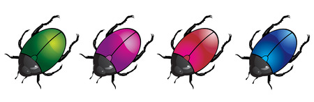colored beetles Stock Vector - 5909675