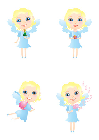 Cute little Christmas angel. Stock Vector - 5909676