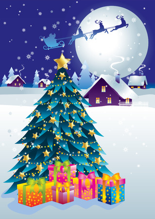 Celebratory background on the topic of Christmas and New Year. Vector