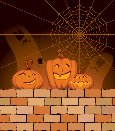 Illustration on the theme of the holiday Halloween Stock Vector - 8380286