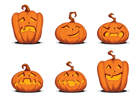 fake smile: Set of a few pumpkins to the helloween. Illustration