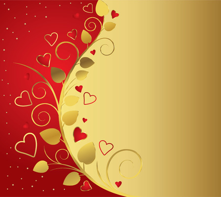 Celebratory background to the day of the wedding or Valentines day. Ilustrace