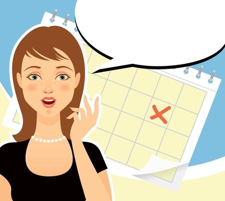 mujer: La chica inesperadamente aprendido las malas noticias Vectores