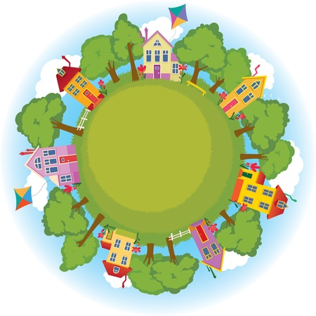 a window on the world: A peaceful neighborhood on Earth