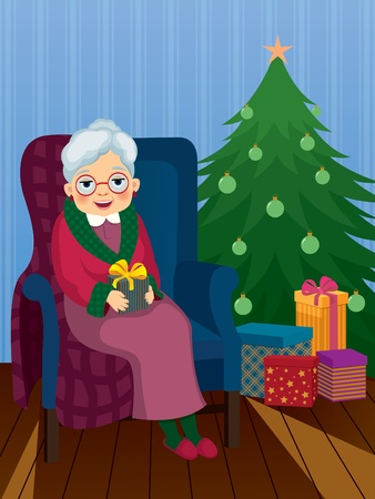 Christmas gift for your grandmother Vector