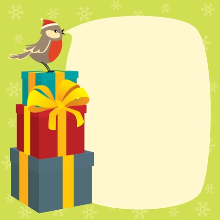 Birdy wishes Merry Christmas Vector