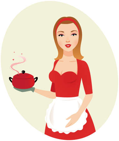 Sexy girl chef Vector