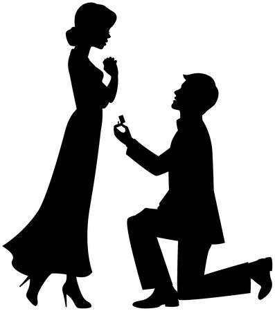 bague de fiancaille: Proposition de mariage Illustration