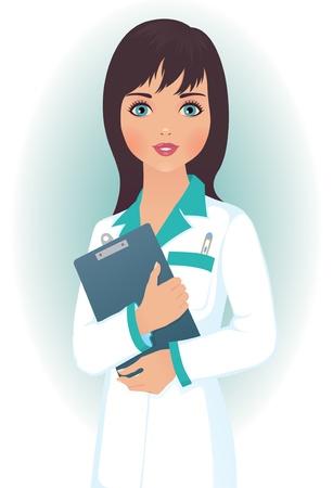 медик: Женщина-врач в медицинский халат