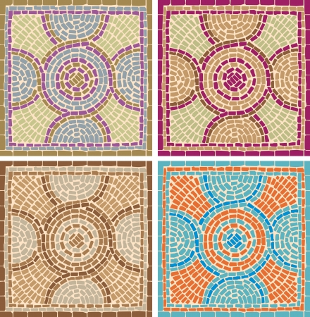 mosaic: Mosaic tiles in antique style Illustration