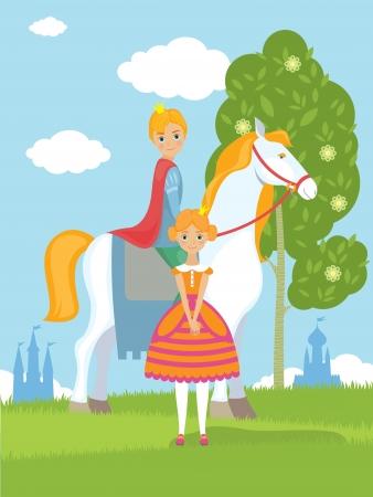 castillos de princesas: príncipe y la princesa en el reino de las hadas