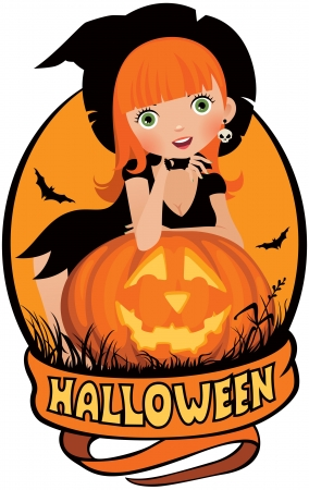 Vector illustration on the theme of Halloween Vector