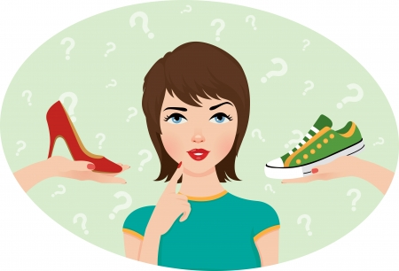 stress woman: The problem of choice of footwear