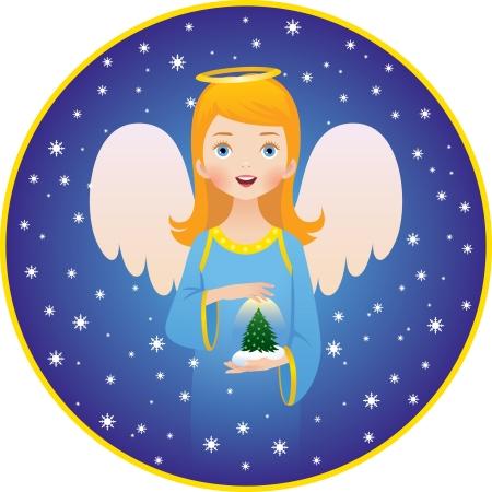 cherub: illustration of the  Angel of Christmas