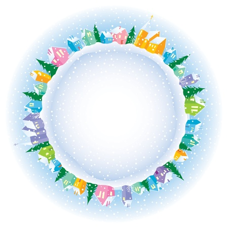 illustration of Christmas on the planet Vector