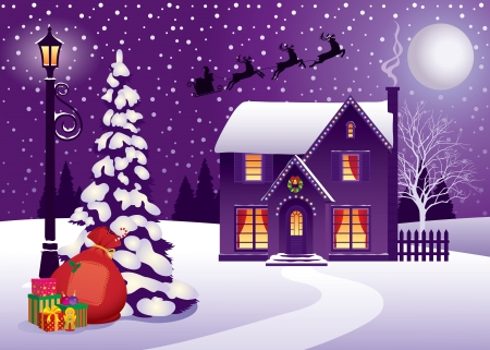 illustration on the theme the Christmas holiday Vector