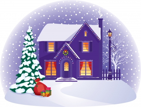 illustration on the theme of the celebration of Christmas Vector