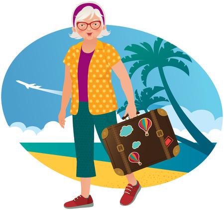 sunglasses beach: Active leisure in the elderly