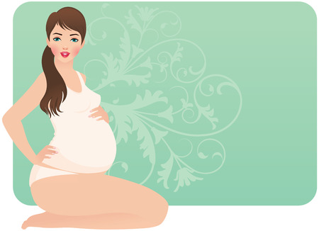 sexual health: Sitting beautiful young pregnant woman