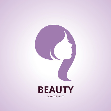 Vector icon template or abstract concept for beauty salons, spa, cosmetics