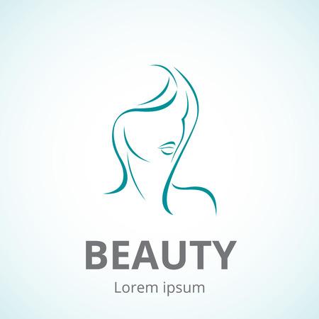 beaut� esthetique: Vector logo mod�le ou concept abstrait pour salons de beaut�, spa, cosm�tiques