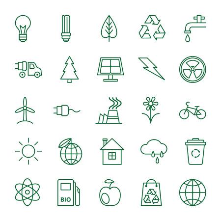 logo recyclage: Big vector set d'icônes sur le thème de l'écologie et de protection de l'environnement Illustration
