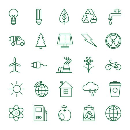 recycling logo: Big vector set of icons on the theme of ecology and environmental protection