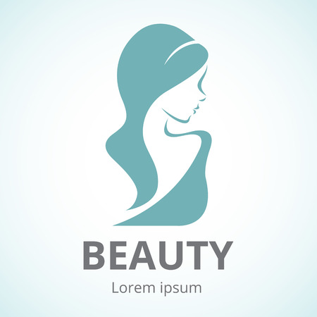 Vector silhouette of a girl in profile template logo or an abstract concept for beauty salons, spa, cosmetics, health Centers, fashion and beauty industry Banco de Imagens - 44642690