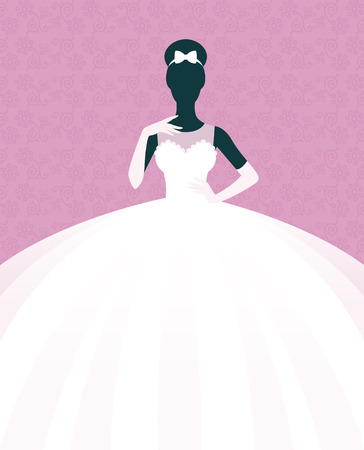 Ilustración común del vector de una novia en un vestido de novia Ilustración de vector