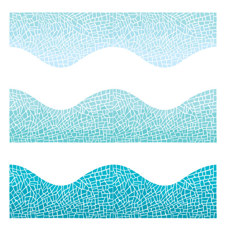 Vector seamless background mosaic in blue and green colors, does not contain a gradient effect.